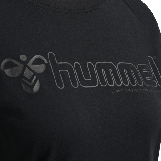 hmlZENIA T-SHIRT S/S, BLACK, packshot