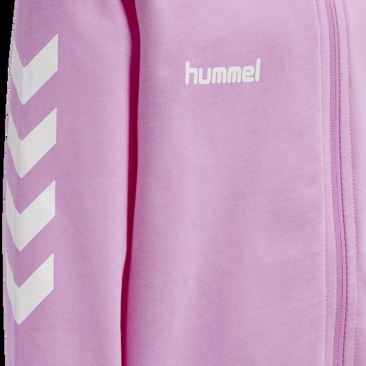 HUMMEL GO KIDS COTTON ZIP HOODIE, ORCHID, packshot