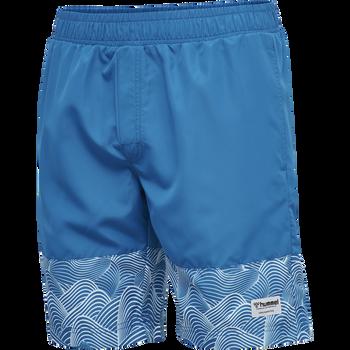 hmlSURF MEDIUM BOARD SHORTS, MYKONOS BLUE, packshot