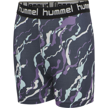 hmlMIMMI TIGHT SHORTS, OMBRE BLUE , packshot