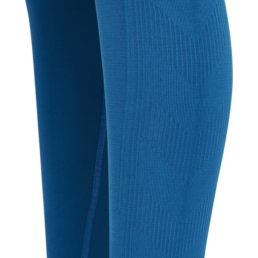 hmlTIF SEAMLESS HIGH WAIST TIGHTS, MYKONOS BLUE, packshot