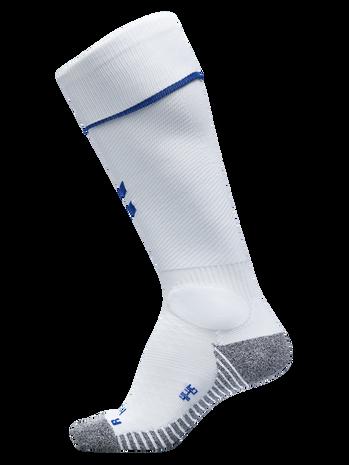 PRO FOOTBALL SOCK, WHITE/TRUE BLUE, packshot