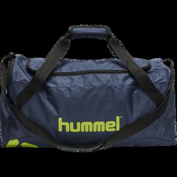 CORE SPORTS BAG, DARK DENIM/LIME PUNCH, packshot