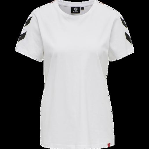 hmlLEGACY WOMAN T-SHIRT, WHITE, packshot