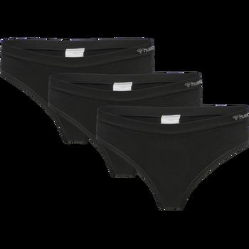 hmlJUNO 3 PACK SEAMLESS HIPSTER, BLACK, packshot