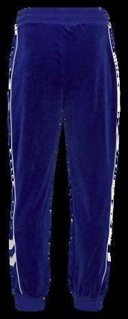 hmlFRISK VELOUR PANTS, MAZARINE BLUE, packshot