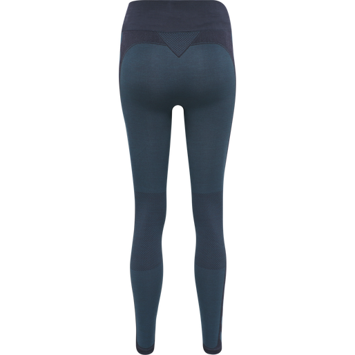 hmlCLEA SEAMLESS MID WAIST TIGHTS, BLUE NIGHTS MELANGE, packshot
