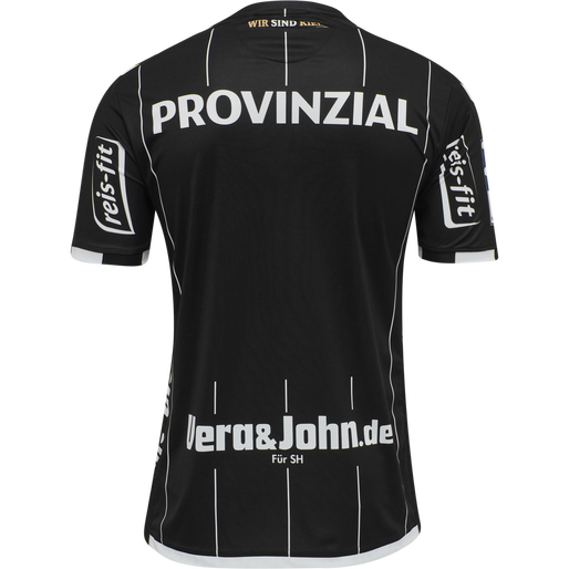 THW KIEL 19-20 AWAY JERSEY S/S, BLACK, packshot