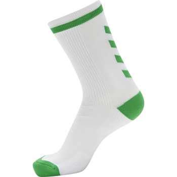 ELITE INDOOR SOCK LOW, WHITE/JELLY BEAN, packshot