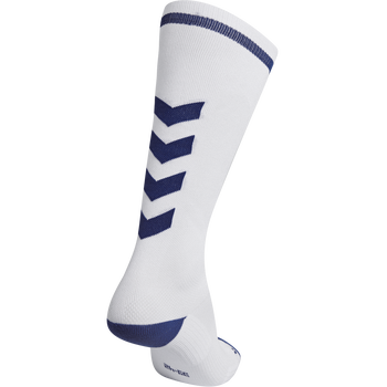 ELITE INDOOR SOCK HIGH, WHITE/TRUE BLUE, packshot