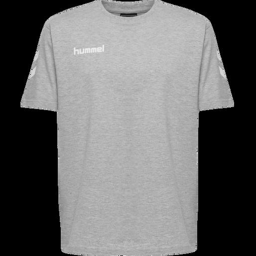 HUMMEL GO KIDS COTTON T-SHIRT S/S, GREY MELANGE, packshot