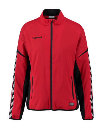 AUTHENTIC CHARGE MICRO ZIP JACKET WOMAN, TRUE RED, packshot