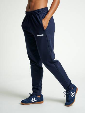 HUMMEL GO COTTON PANT, MARINE, model