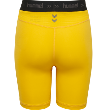 HUMMEL FIRST PERF SHORT TIGHTS, SPORTS YELLOW, packshot