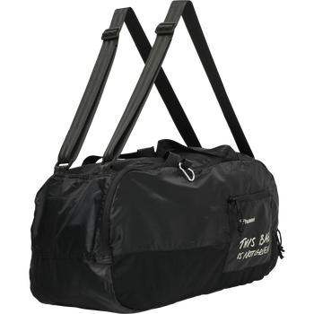 hmlPRO XK SPORTS BAG, CAVIAR/MARSHMALLOW, packshot