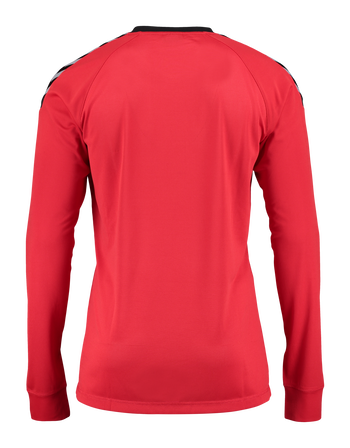 AUTH. CHARGE LS POLY JERSEY, TRUE RED, packshot