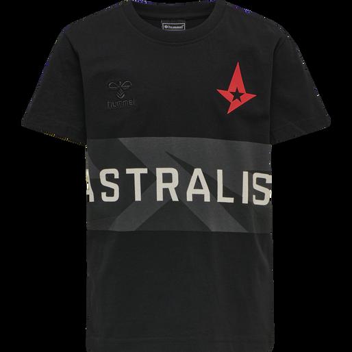 ASTRALIS T-SHIRT S/S KIDS, BLACK, packshot