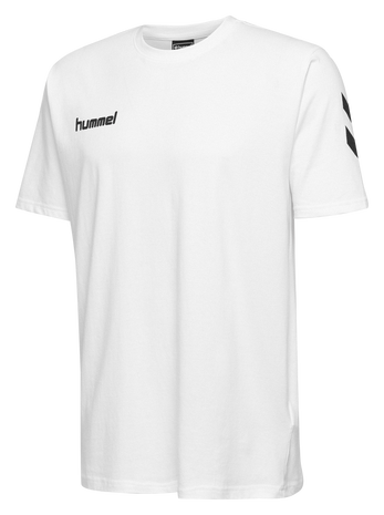 HUMMEL GO KIDS COTTON T-SHIRT S/S, WHITE, packshot