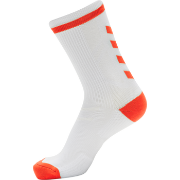 ELITE INDOOR SOCK LOW, WHITE/DIVA PINK, packshot