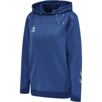 hmlLEAD WOMEN POLY HOODIE, TRUE BLUE, packshot