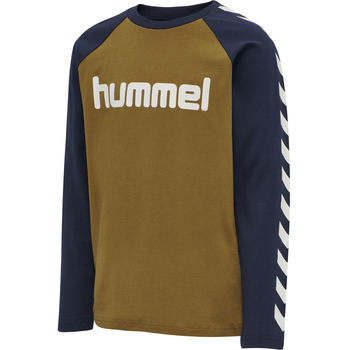 hmlBOYS T-SHIRT LS, RUBBER, packshot