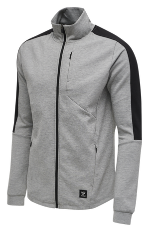 hmlTROPPER ZIP JACKET, GREY MELANGE, packshot