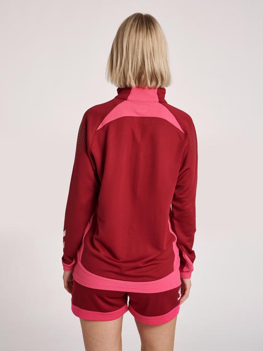 hmlLEAD WOMAN HALF ZIP , BIKING RED, model