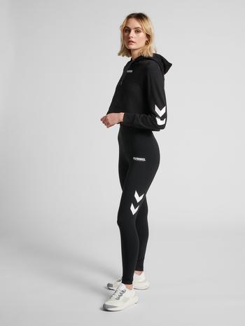 hmlLEGACY WOMAN HIGH WAIST TIGHTS, BLACK, model