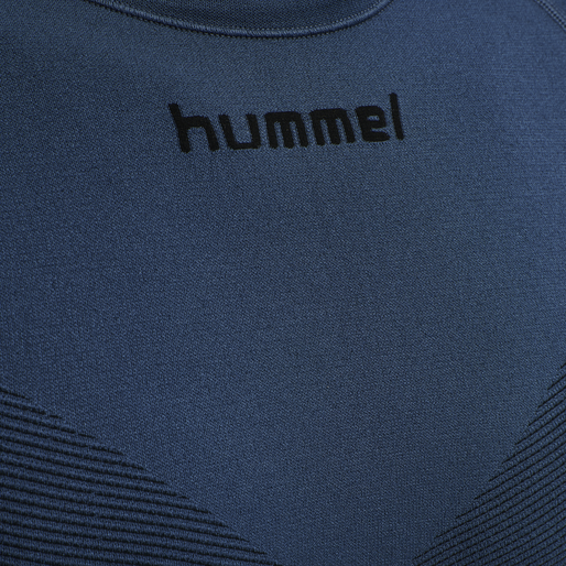 HUMMEL FIRST SEAMLESS JERSEY S/S , DARK DENIM, packshot