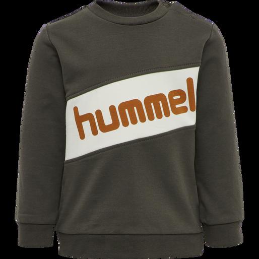 hmlCLEMENT SWEAT, BLACK OLIVE, packshot