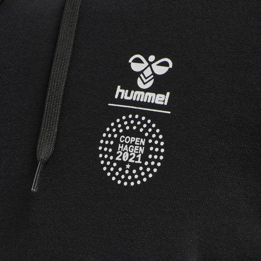 hmlLOVE HOODIE, BLACK/MULTI COLOUR, packshot