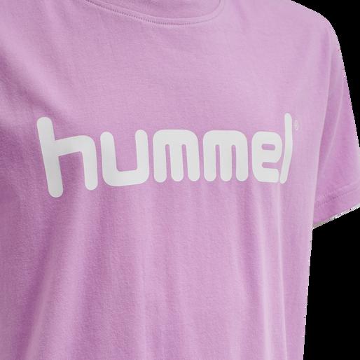HUMMEL GO KIDS COTTON LOGO T-SHIRT S/S, ORCHID, packshot