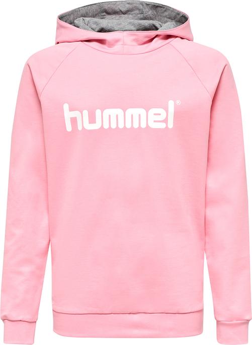 HUMMEL GO KIDS COTTON LOGO HOODIE, COTTON CANDY, packshot