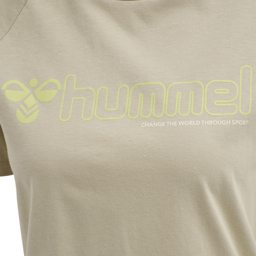 hmlZENIA T-SHIRT S/S, HUMUS, packshot
