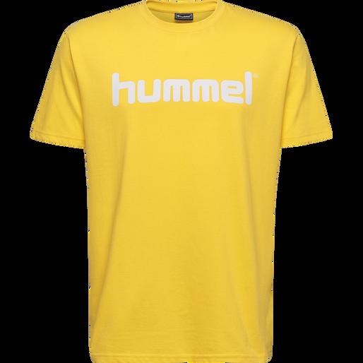 HUMMEL GO KIDS COTTON LOGO T-SHIRT S/S, SPORTS YELLOW, packshot