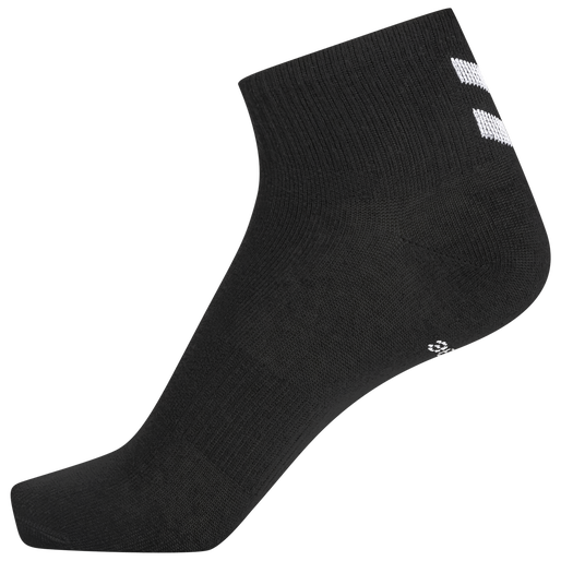 hmlCHEVRON 6-PACK MID CUT SOCKS, BLACK, packshot