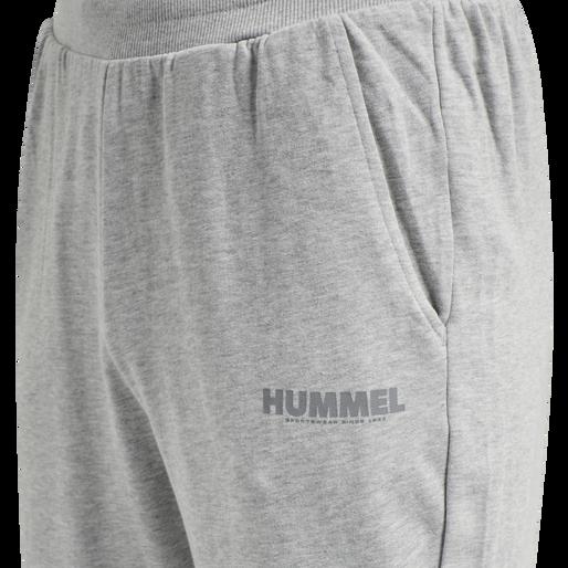 hmlLEGACY TAPERED PANTS, GREY MELANGE, packshot