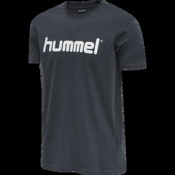 HUMMEL GO COTTON LOGO T-SHIRT S/S, INDIA INK, packshot