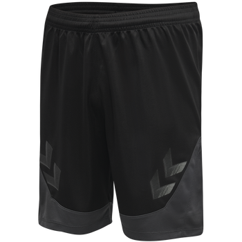 hmlLEAD POLY SHORTS, BLACK, packshot