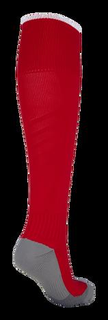 FUNDAMENTAL FOOTBALL SOCK, TRUE RED/WHITE, packshot