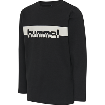 hmlOTTO T-SHIRT L/S, BLACK, packshot