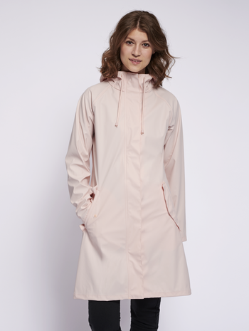 hmlJOY RAIN COAT, CLOUD PINK, model