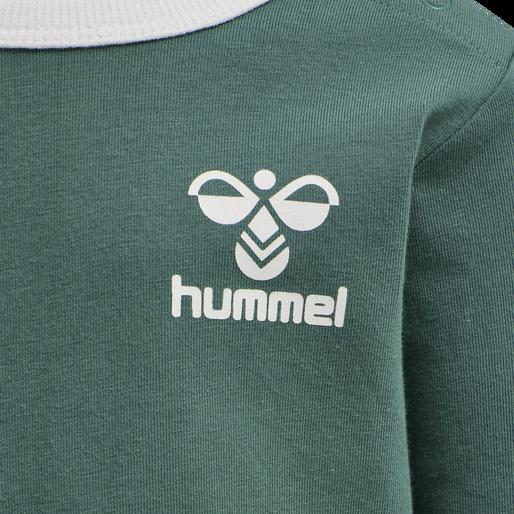 hmlMAUI T-SHIRT L/S, BLUE SPRUCE, packshot