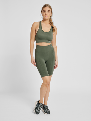 hmlTIF SEAMLESS CYLING SHORTS, THYME, model