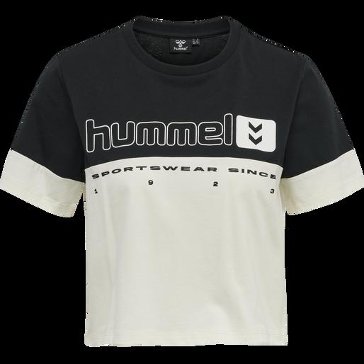 hmlLGC SIW CROPPED T-SHIRT, BLACK, packshot