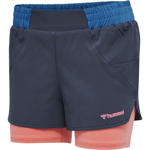 hmlVENKA 2 IN 1 SHORTS, BLUE NIGHTS, packshot