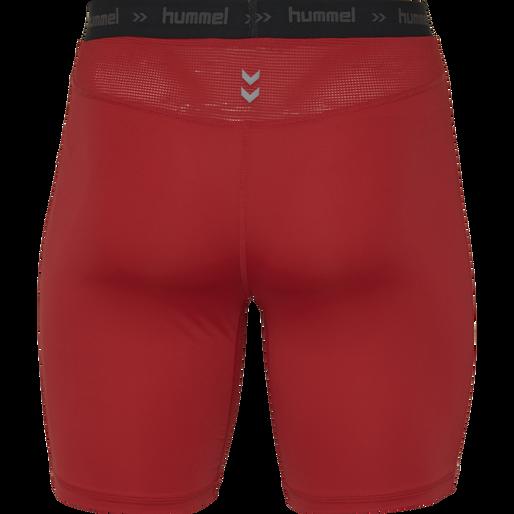 HUMMEL FIRST PERFORMANCE TIGHT SHORTS, TRUE RED, packshot