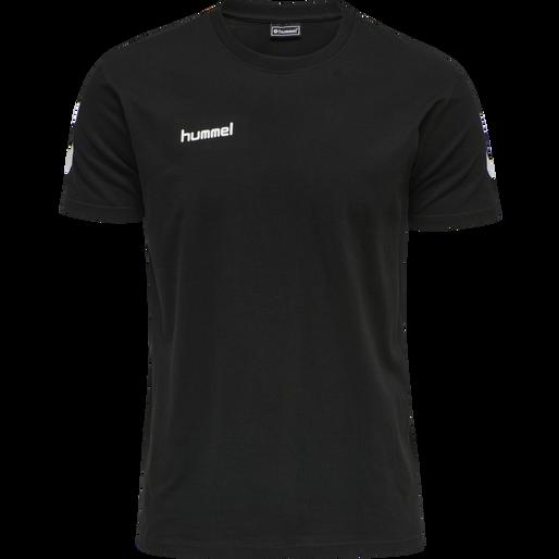 HUMMEL GO COTTON T-SHIRT S/S, BLACK, packshot